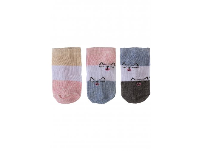 Kojenecké ponožky pruhované - 3 páry v balení