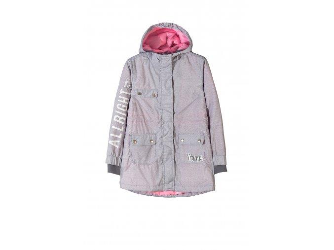 Dívčí přechodová bunda s kapucí