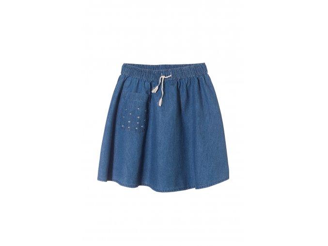 Dívčí sukně s kapsou