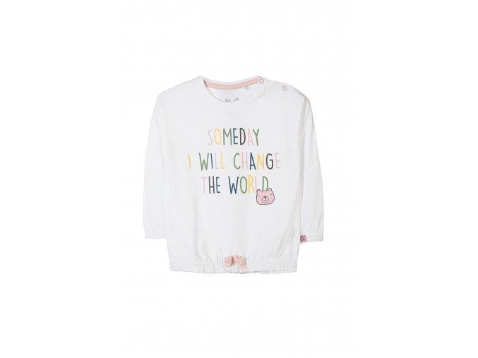 Kojenecké bílé tričko dlouhý rukáv s nápisem