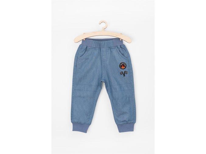 Kalhoty s pružným lemem v pase a na nohavicích