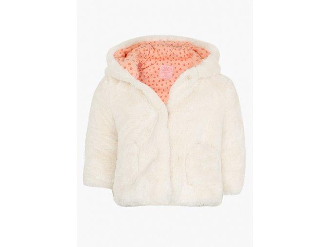 Kojenecká zimní bunda (kožíšek) s kapucí a kapsami (růžová barva)