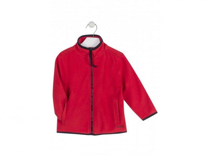 Chlapecká flísová mikina na zip bez kapuce (různé barvy)