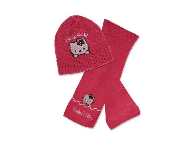 Dívčí komplet Hello Kitty - čepice a šála