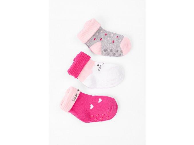 Kojenecké protiskluzové ponožky - 3 páry v balení