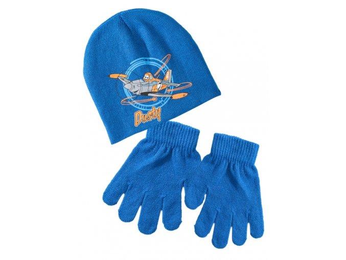 Chlapecký komplet Planes - čepice a rukavice (různé barvy)