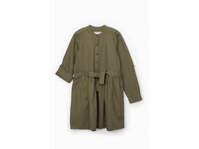 Dívčí bavlněné šaty na knoflíčky
