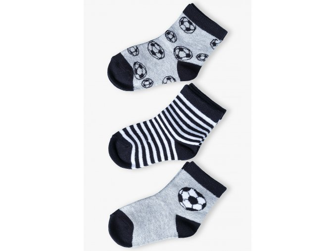 Chlapecké ponožky pro malé fotbalisty - 3 páry v balení