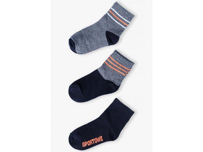 Mix chlapeckých ponožek - 3 páry v balení