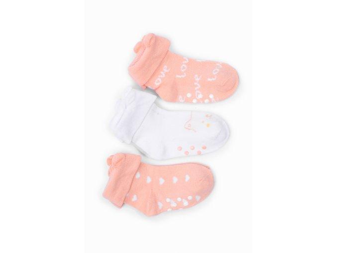 Kojenecké ponožky s ouškama - 3 páry v balení