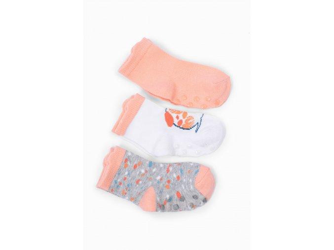 Kojenecké protiskluzové ponožky s pejskem - 3 páry