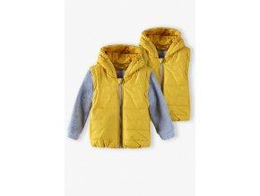 Chlapecká přechodová bunda s kapucí 2v1