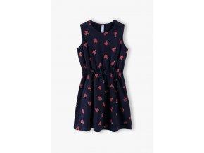 Dívčí šaty s potiskem srdíček