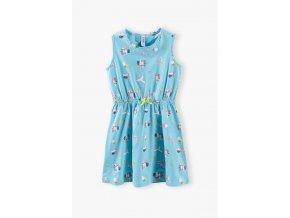Dívčí šaty s potiskem papoušků