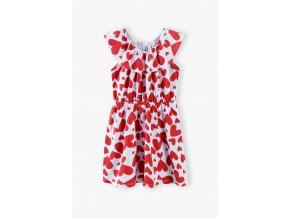 Dívčí šaty s volánkem Srdíčka