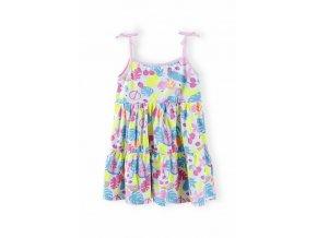 Dívčí barevné šaty na ramínka
