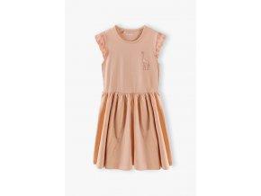 Dívčí bavlněné šaty s krajkou