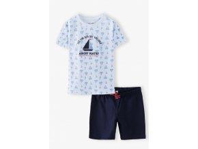 Chlapecké pyžamo krátký rukáv Ahoy