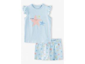 Dívčí pyžamo krátký rukáv Hvězdice