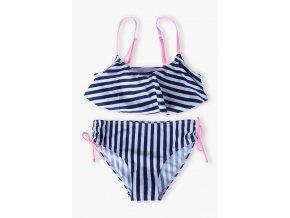 Dívčí dvoudílné proužkované plavky