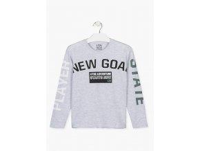 Chlapecké tričko dlouhý rukáv NEW GOAL (v šedé a tmavě modré barvě)