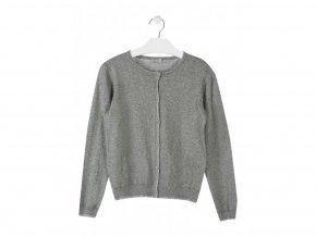 Dívčí svetr na rozepínání (šedá nebo modrá barva)