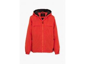 Chlapecká zimní bunda s kapucí (pouze v černé barvě)