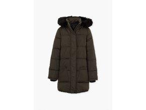 Dívčí zimní bunda s odnímatelnou kapucí (khaki nebo černá barva)