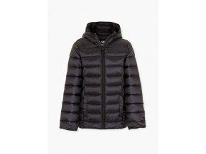 Dívčí černá bunda s kapucí