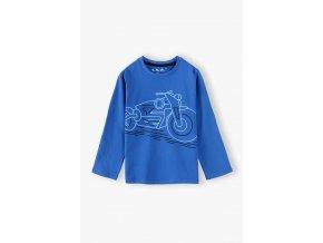 Chlapecké tričko dlouhý rukáv Motorka