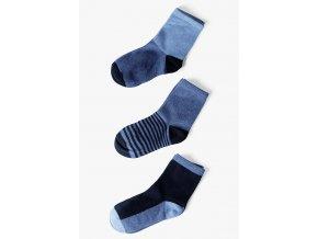 Chlapecké modré ponožky - 3 páry v balení