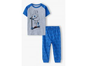 Chlapecké pyžamo krátký rukáv a dlouhé nohavice Robot