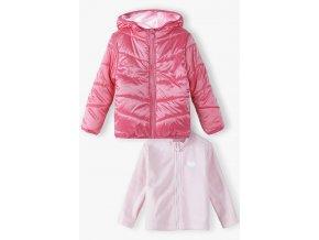Dívčí růžová zimní bunda 3v1