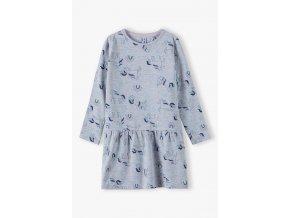 Dívčí šaty dlouhý rukáv Jednorožci