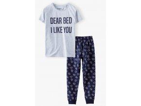 Dívčí pyžamo krátký rukáv a dlouhé nohavice Srdíčka