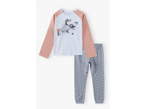 Dívčí pyžamo dlouhý rukáv Spící pejsek