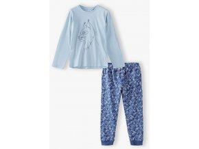 Dívčí pyžamo dlouhý rukáv s potiskem