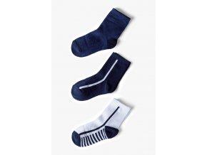 Chlapecké ponožky modrý mix - 3 páry v balení