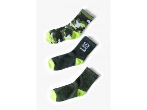 Chlapecké khaki ponožky - 3 páry v balení
