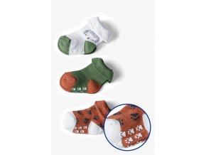 Kojenecké ponožky protiskluzové - 3 páry v balení