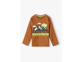 Chlapecké tričko dlouhý rukáv Mountain