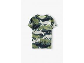 Safari maskáčové chlapecké tričko krátký rukáv