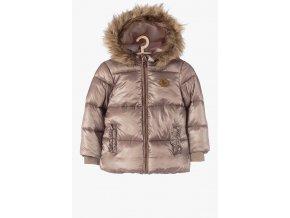 Zimní dívčí bunda s odepínací kapucí a kožešinkou