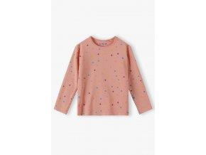 Dívčí tričko dlouhý rukáv s puntíky