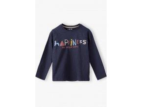 Chlapecké tričko dlouhý rukáv Happiness