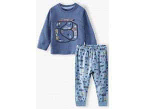 Chlapecké pyžamo dlouhý rukáv Silnice