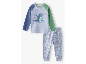 Chlapecké pyžamo dlouhý rukáv Dino