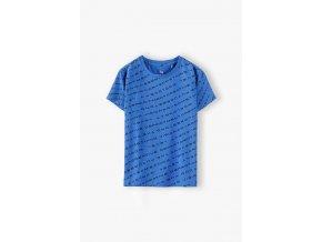 Chlapecké modré tričko krátký rukáv s celoplošným potiskem