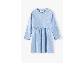 Kojenecké modré šaty dlouhý rukáv