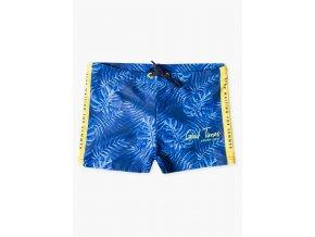 Chlapecké plavky s potiskem (Barva Modrá, Velikost 134/140)